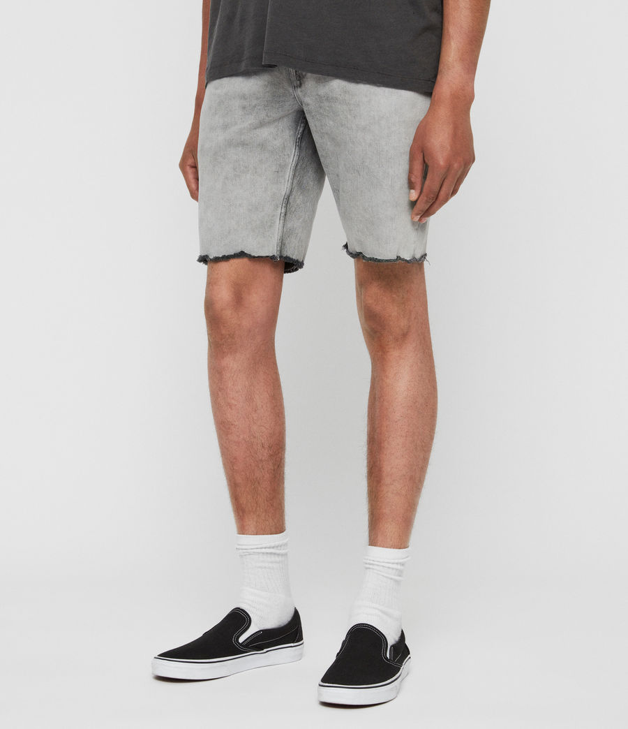 Mens Switch Denim Shorts (grey) - Image 2