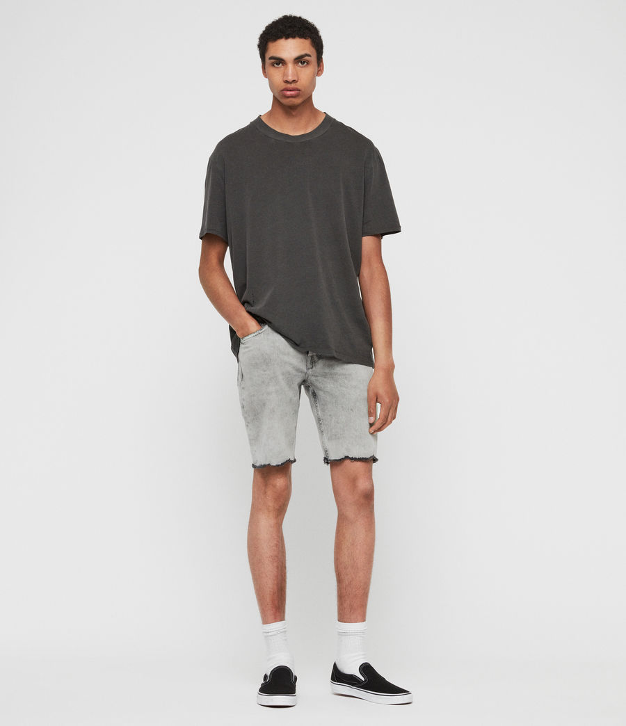 Mens Switch Denim Shorts (grey) - Image 3