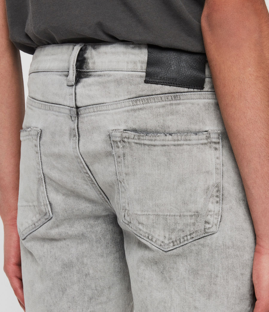 Mens Switch Denim Shorts (grey) - Image 5