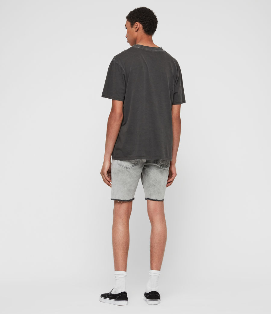 Mens Switch Denim Shorts (grey) - Image 6