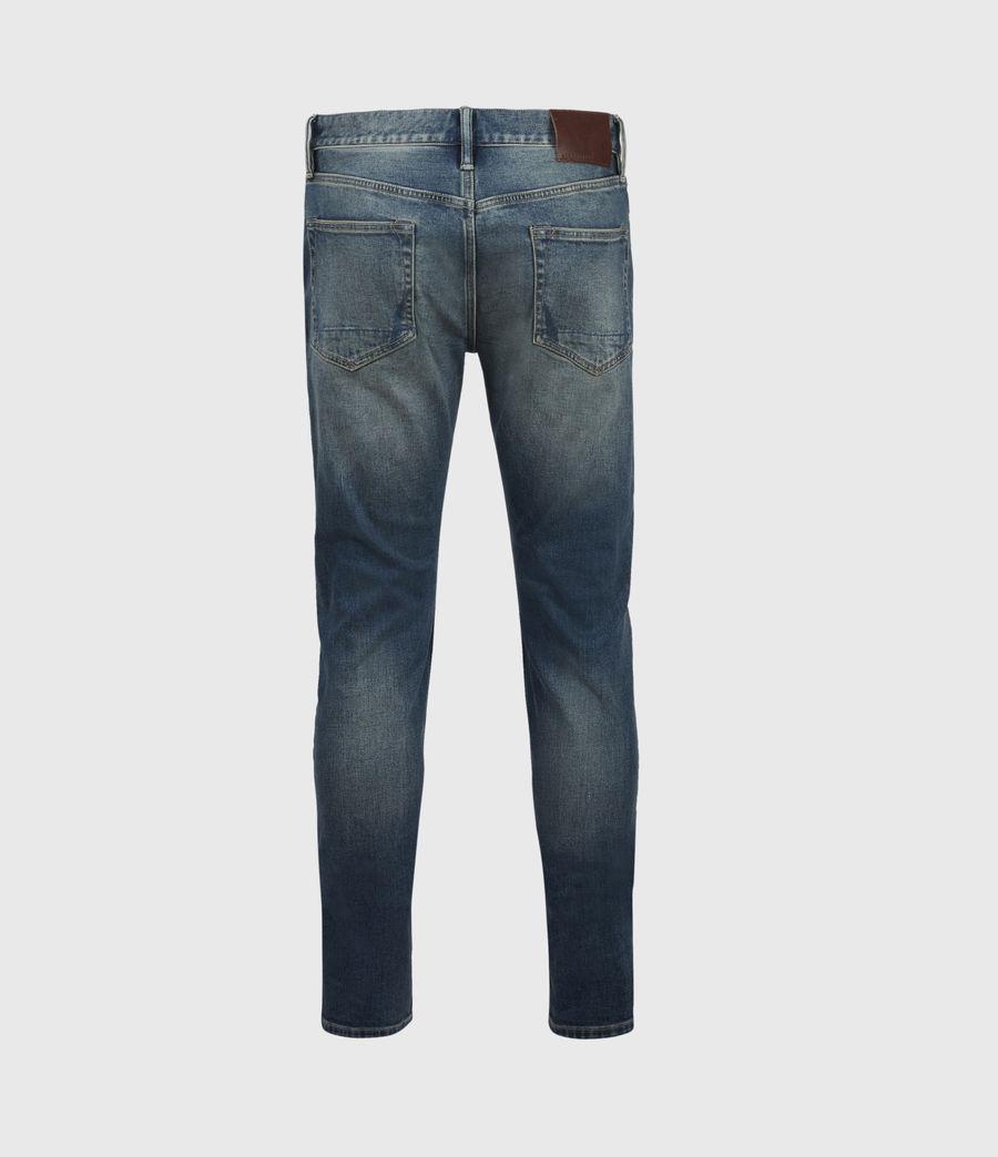 Men's Rex Damaged Slim Jeans, Grunge Indigo (grunge_indigo) - Image 3