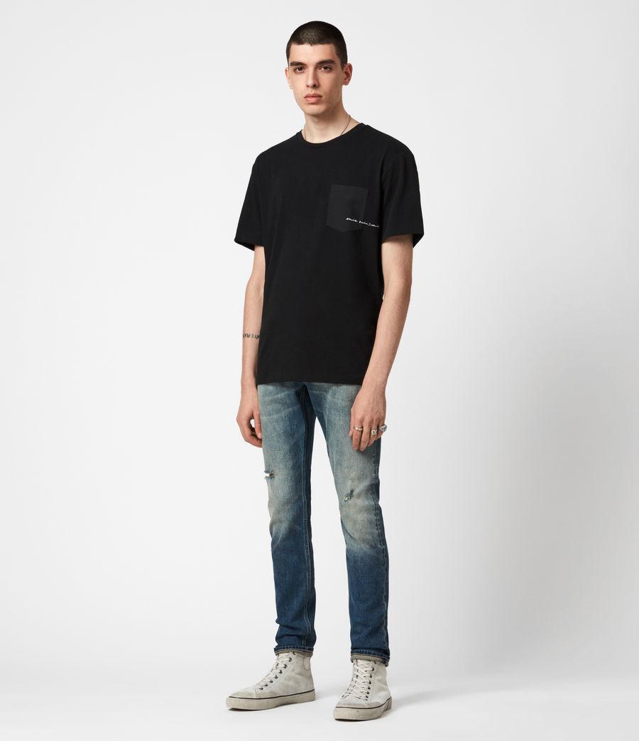 Men's Rex Damaged Slim Jeans, Grunge Indigo (grunge_indigo) - Image 4