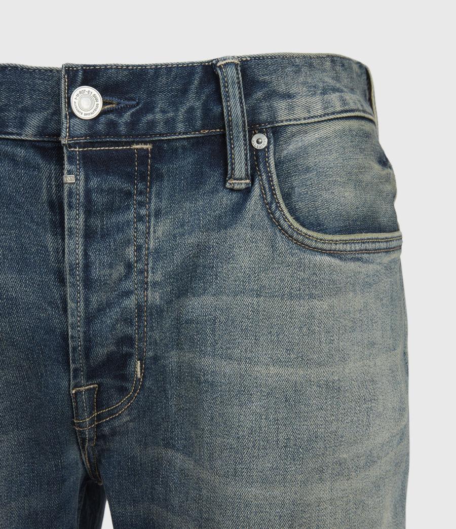 Men's Rex Damaged Slim Jeans, Grunge Indigo (grunge_indigo) - Image 5
