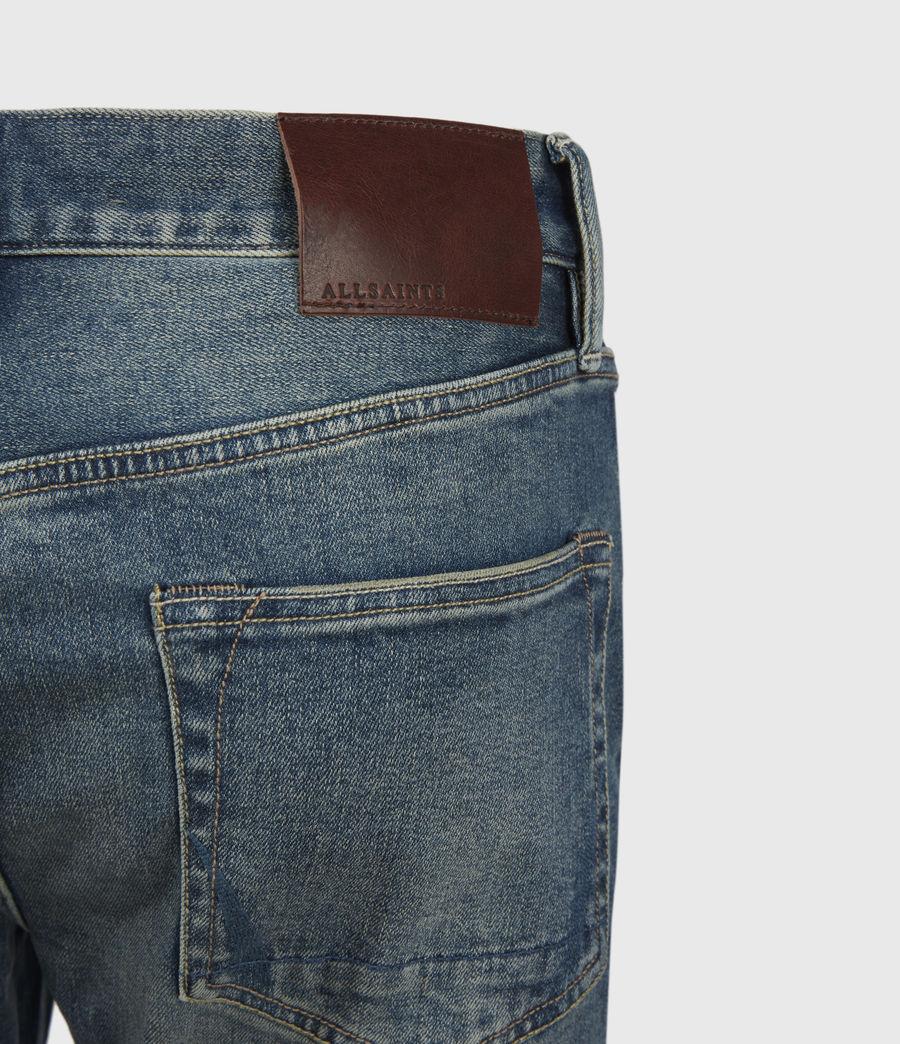 Men's Rex Damaged Slim Jeans, Grunge Indigo (grunge_indigo) - Image 6