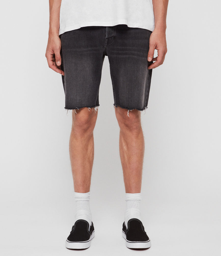 Men's Switch Denim Shorts (washed_black) - Image 1