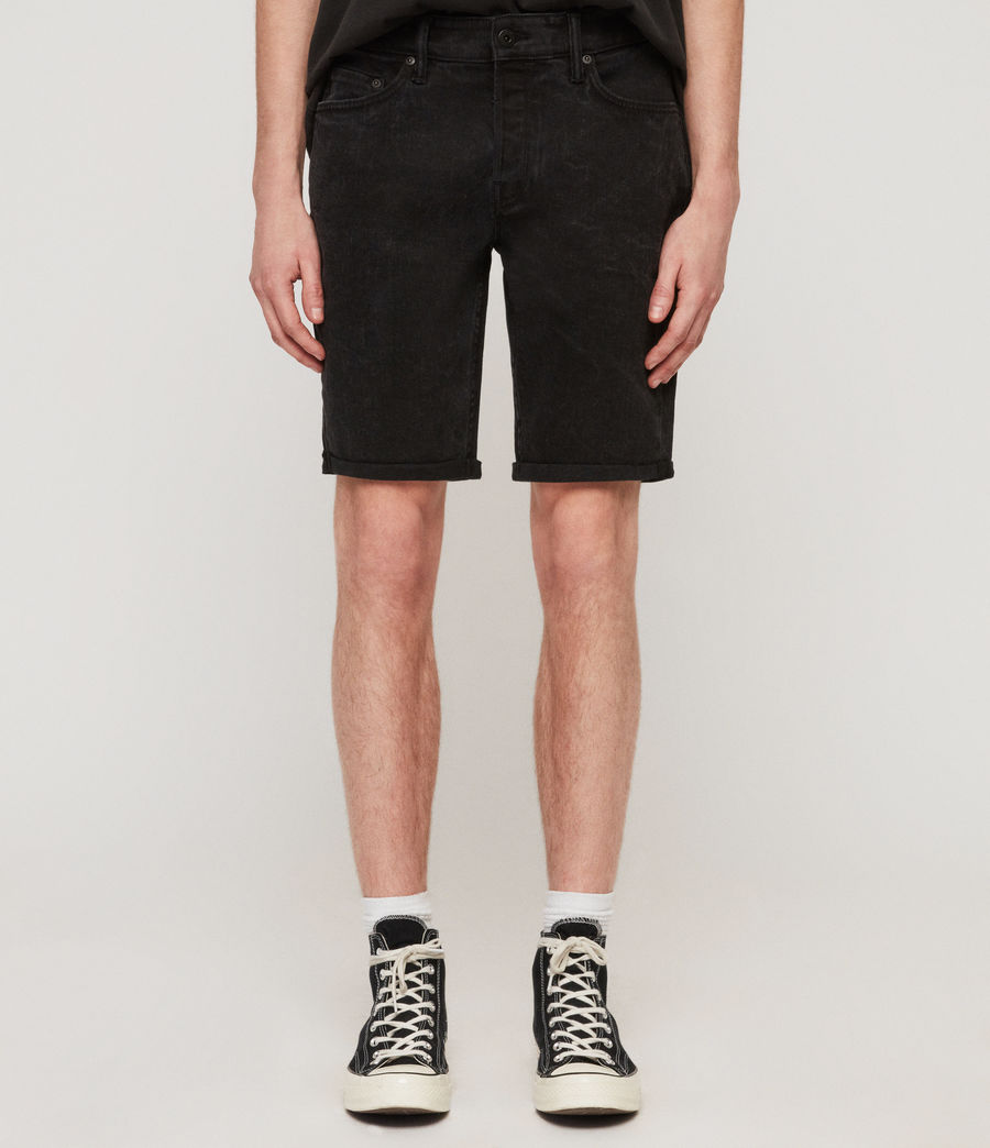 Hommes Short en Jean Switch (washed_black) - Image 1