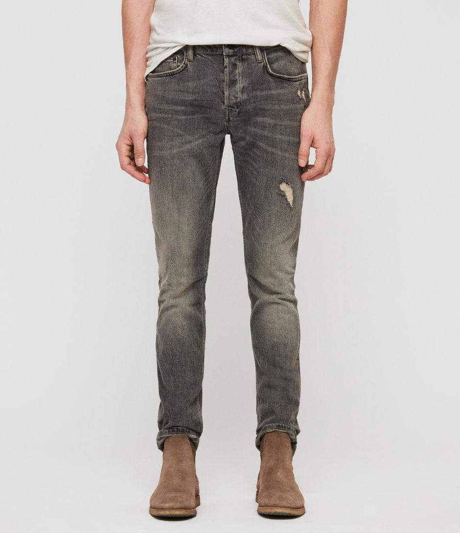 Herren Cigarette Damaged Jeans (dark_grey) - Image 1
