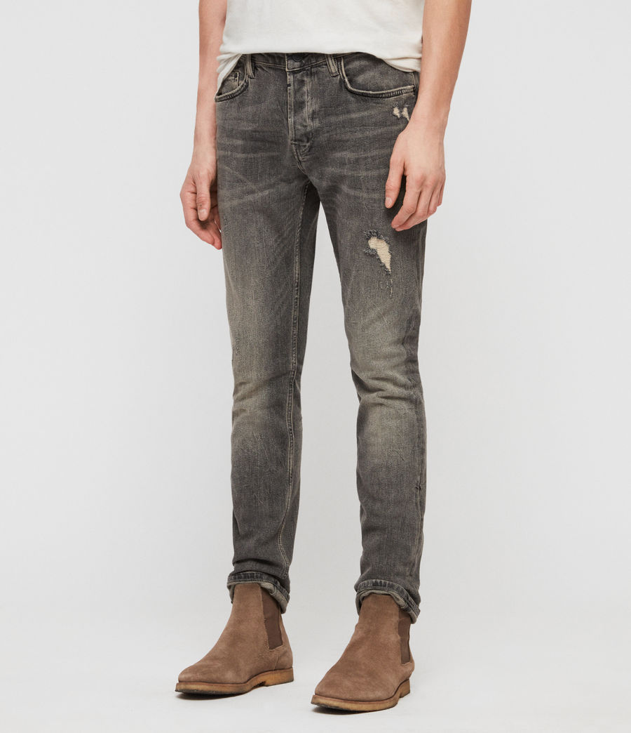 Herren Cigarette Damaged Jeans (dark_grey) - Image 2