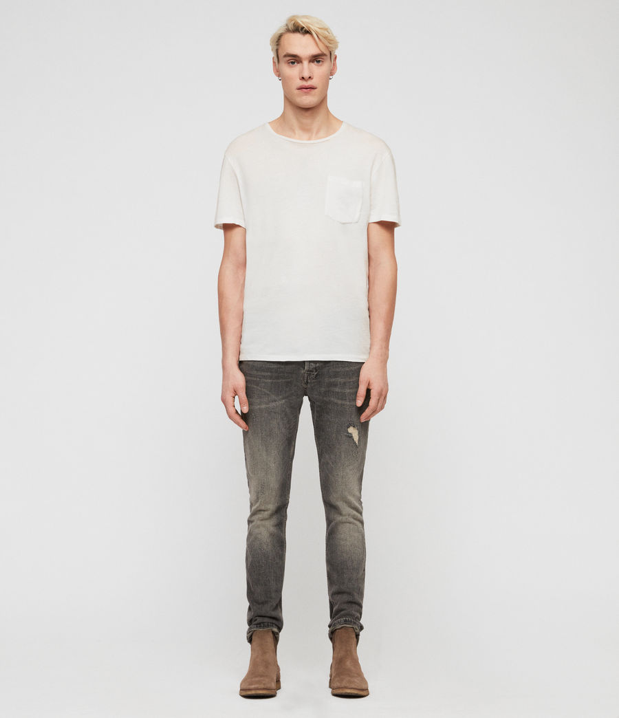Herren Cigarette Damaged Jeans (dark_grey) - Image 3