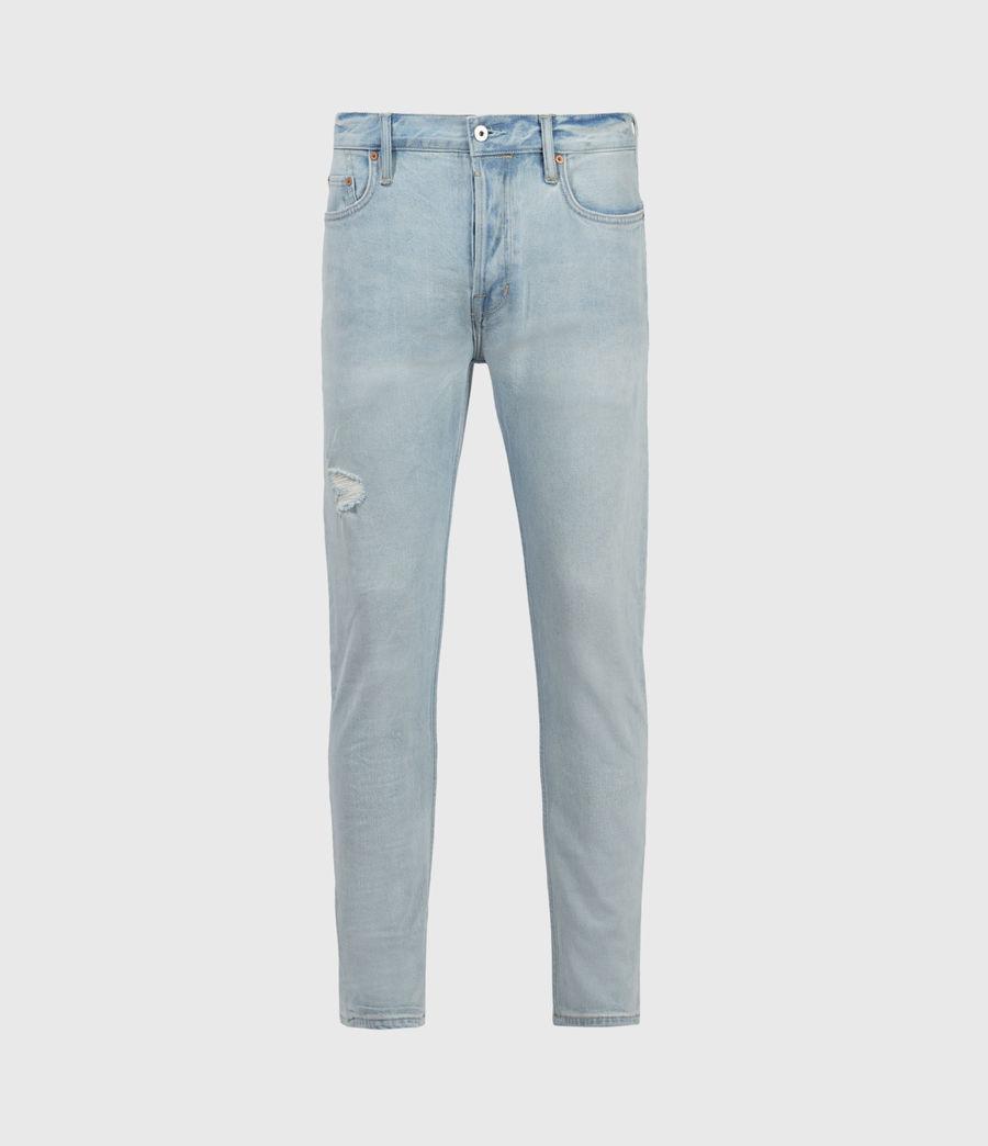 Uomo Dean Damaged Slim Jeans, Light Indigo (light_indigo) - Image 1