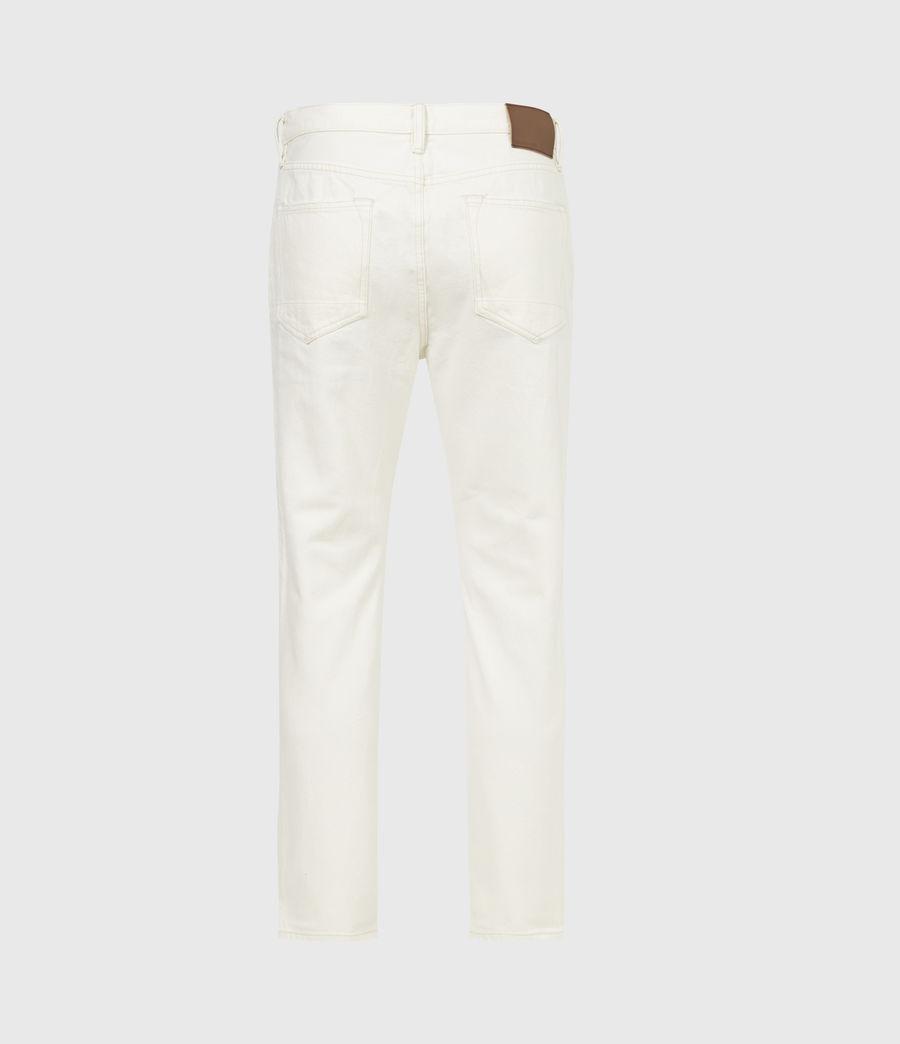 Men's Jack Damaged Straight Jeans, Ecru (ecru) - Image 3