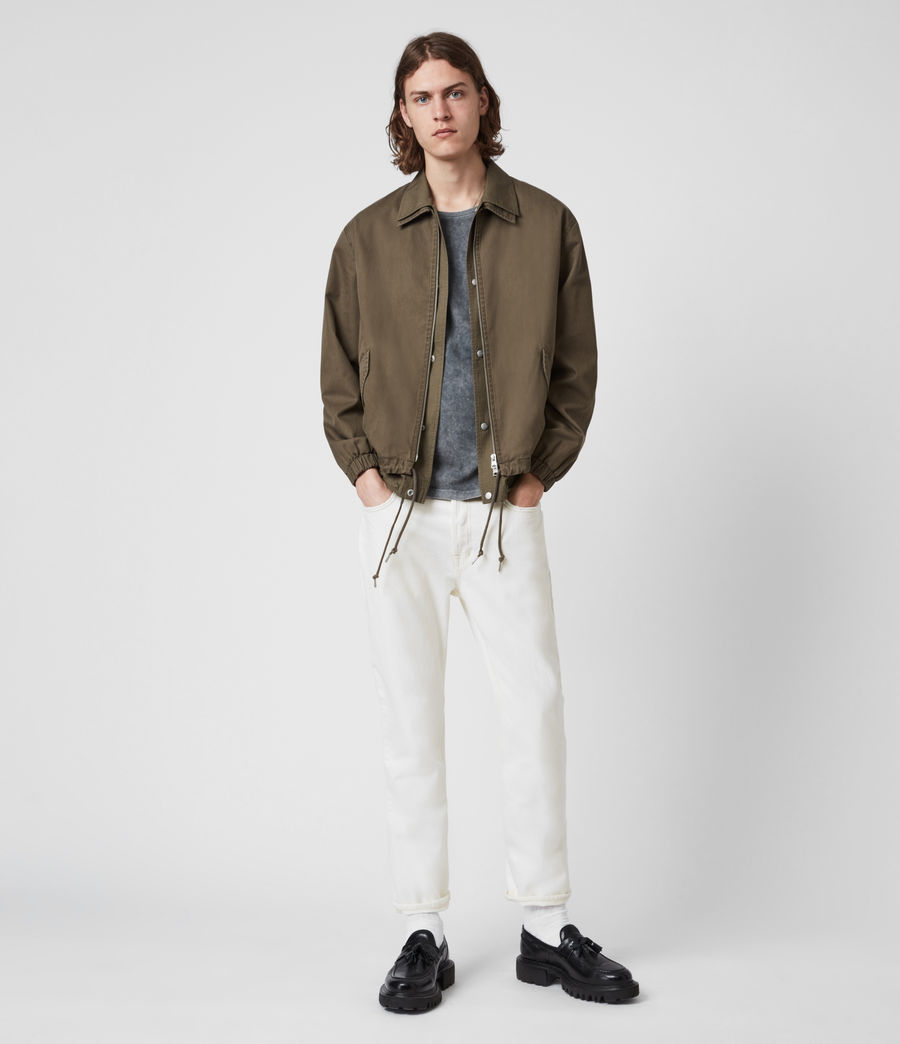 Men's Jack Damaged Straight Jeans, Ecru (ecru) - Image 4