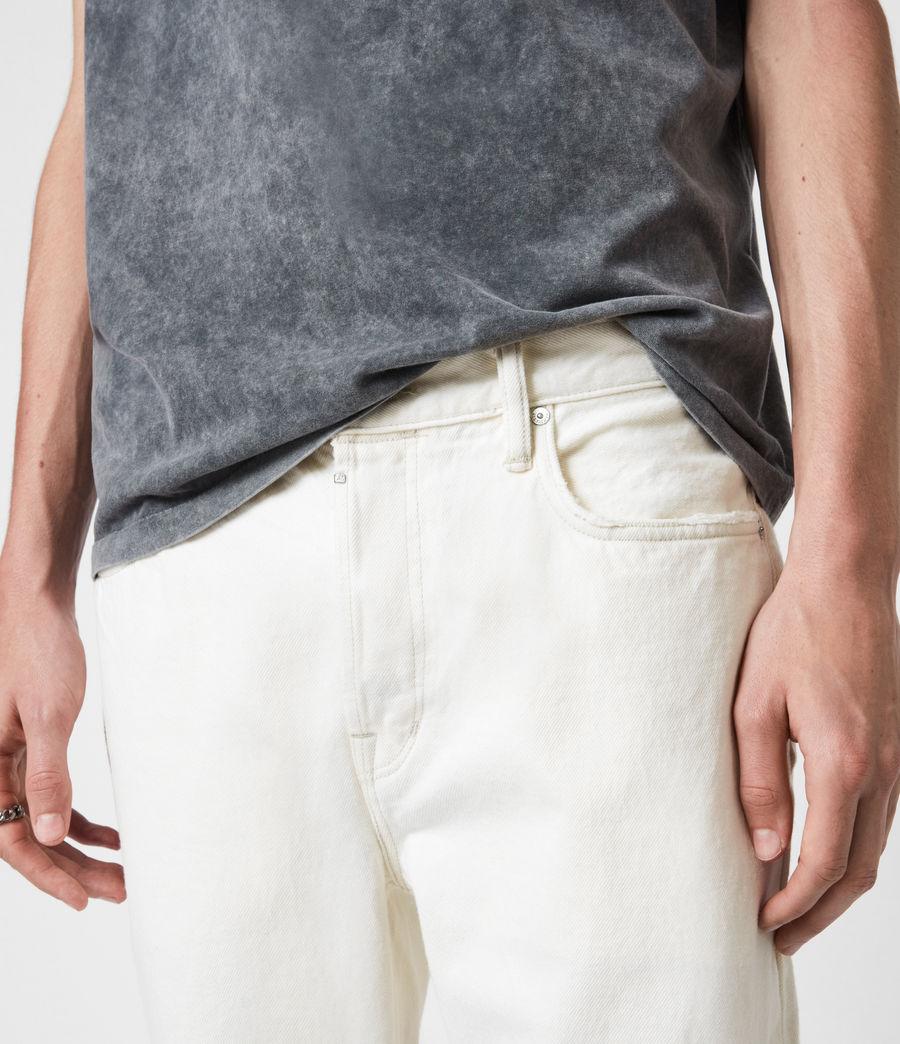 Men's Jack Damaged Straight Jeans, Ecru (ecru) - Image 5