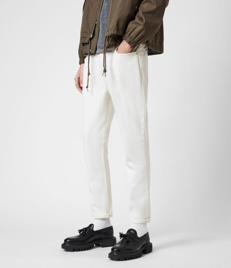 Men's Jack Damaged Straight Jeans, Ecru (ecru) - Image 6
