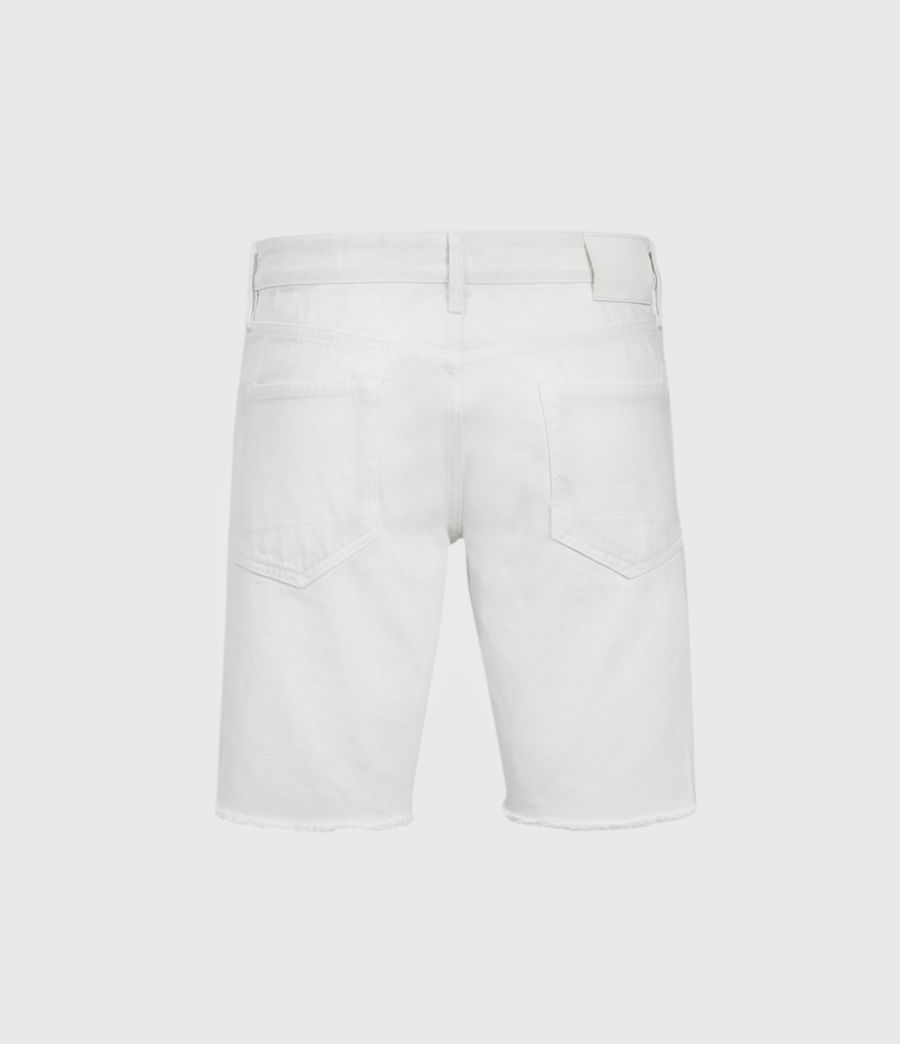 Hombres Switch Damaged Denim Shorts (white) - Image 2