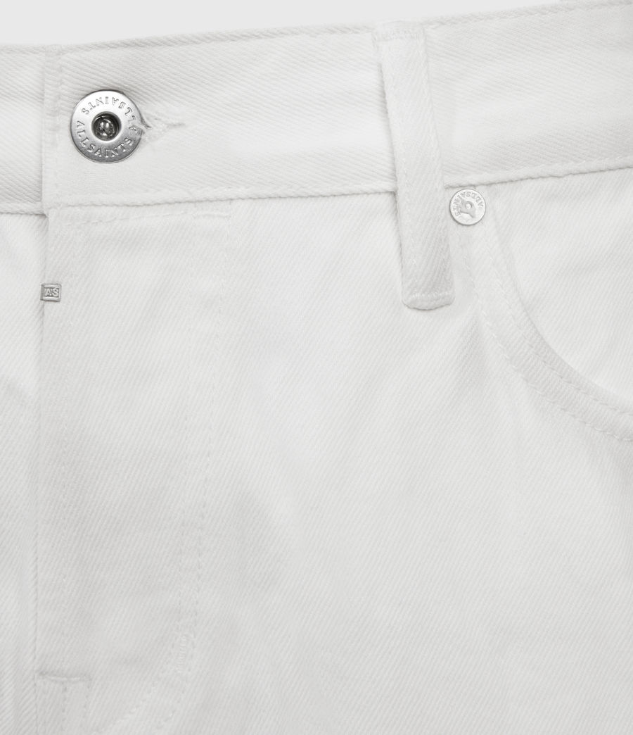 Hombres Switch Damaged Denim Shorts (white) - Image 3