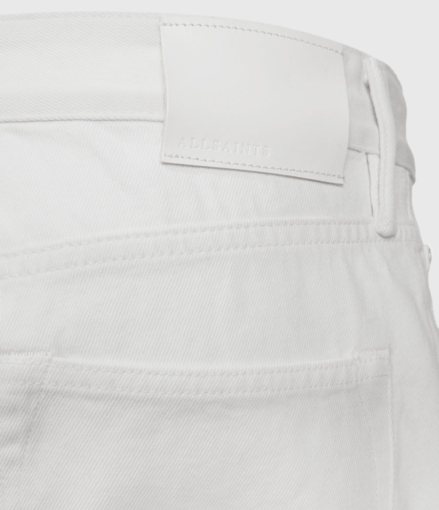 Hombres Switch Damaged Denim Shorts (white) - Image 4