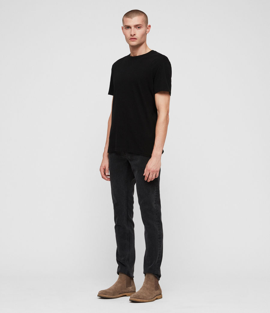 Mens Rex Straight Skinny Jeans (smoke_black) - Image 3