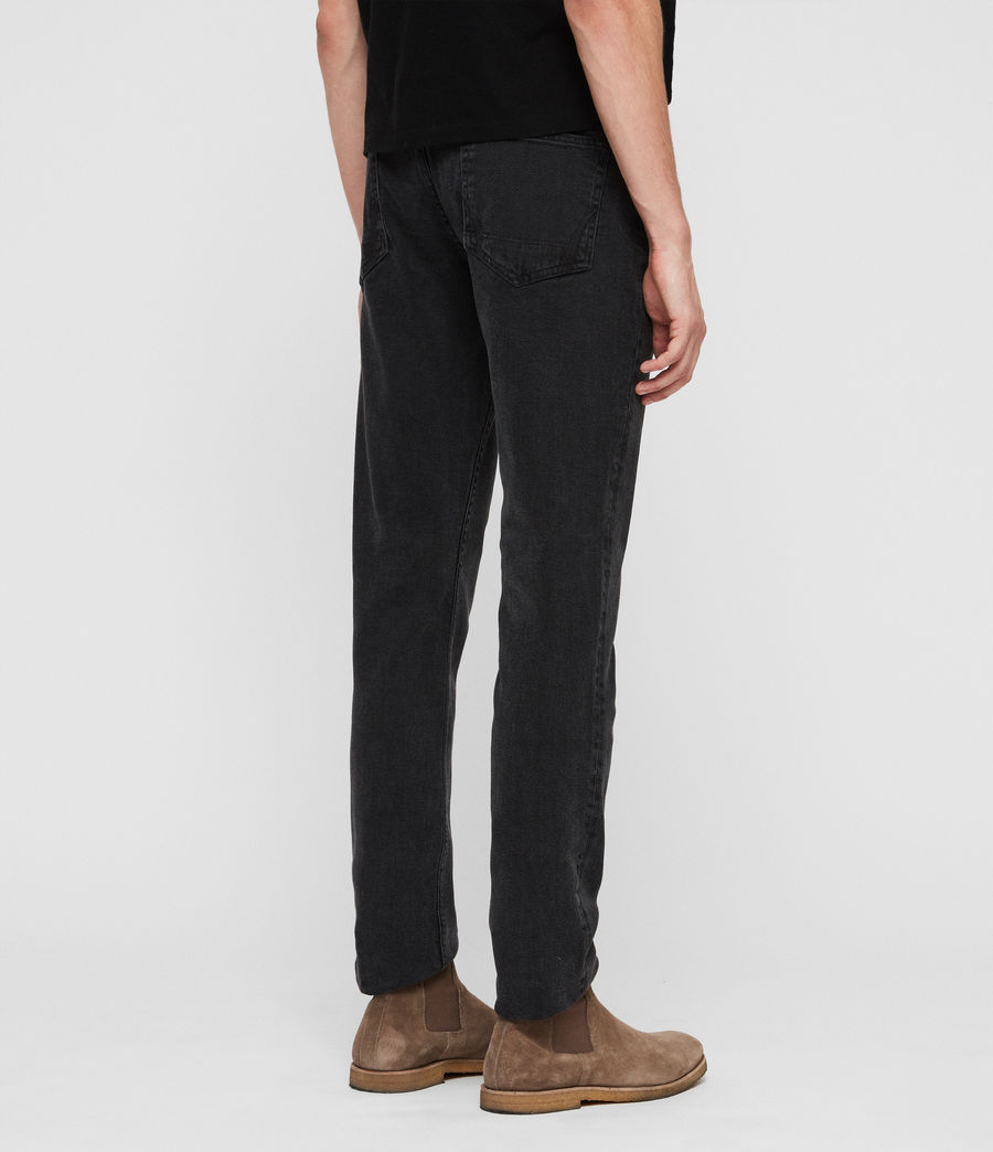 Mens Rex Straight Skinny Jeans (smoke_black) - Image 5