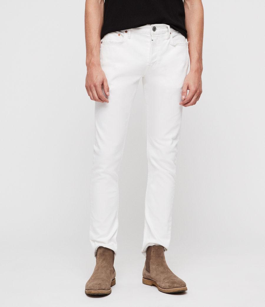 Mens Rex Slim Jeans, White (white) - Image 2