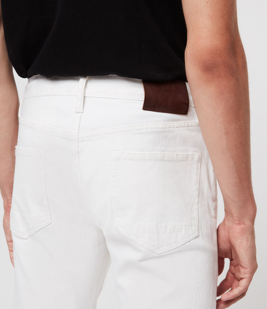 Mens Rex Slim Jeans, White (white) - Image 3