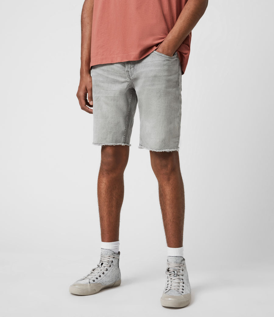 Hommes Short en Jean Usé Switch (grey) - Image 4
