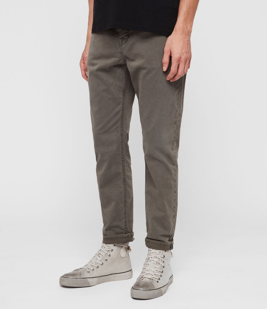 Mens Ridge Twill Tapered Jeans, Khaki (khaki) - Image 3