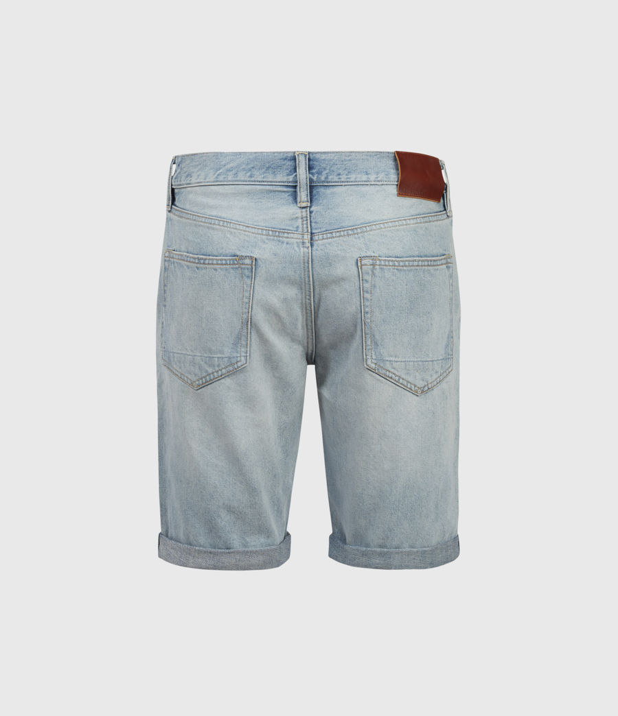 Hombres Switch Damaged Denim Shorts (light_indigo) - Image 2