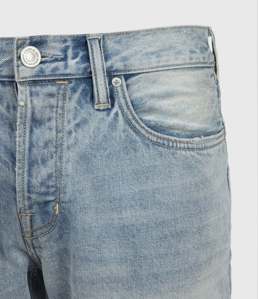 Hombres Switch Damaged Denim Shorts (light_indigo) - Image 3