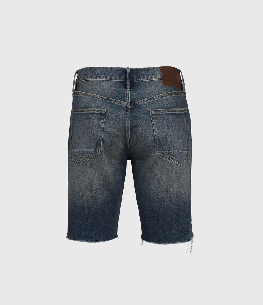 Men's Switch Damaged Denim Shorts (grunge_indigo) - Image 2
