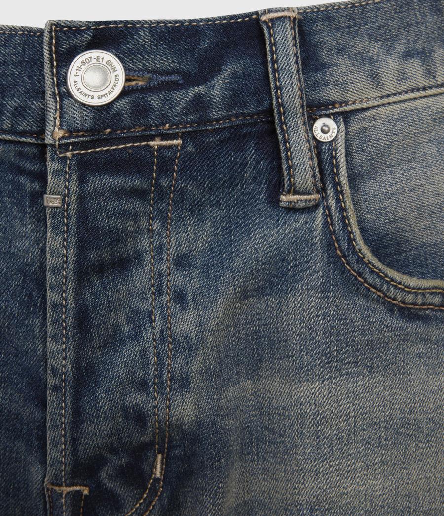 Men's Switch Damaged Denim Shorts (grunge_indigo) - Image 3