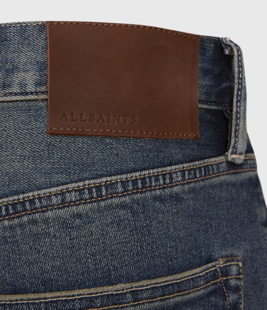 Men's Switch Damaged Denim Shorts (grunge_indigo) - Image 4