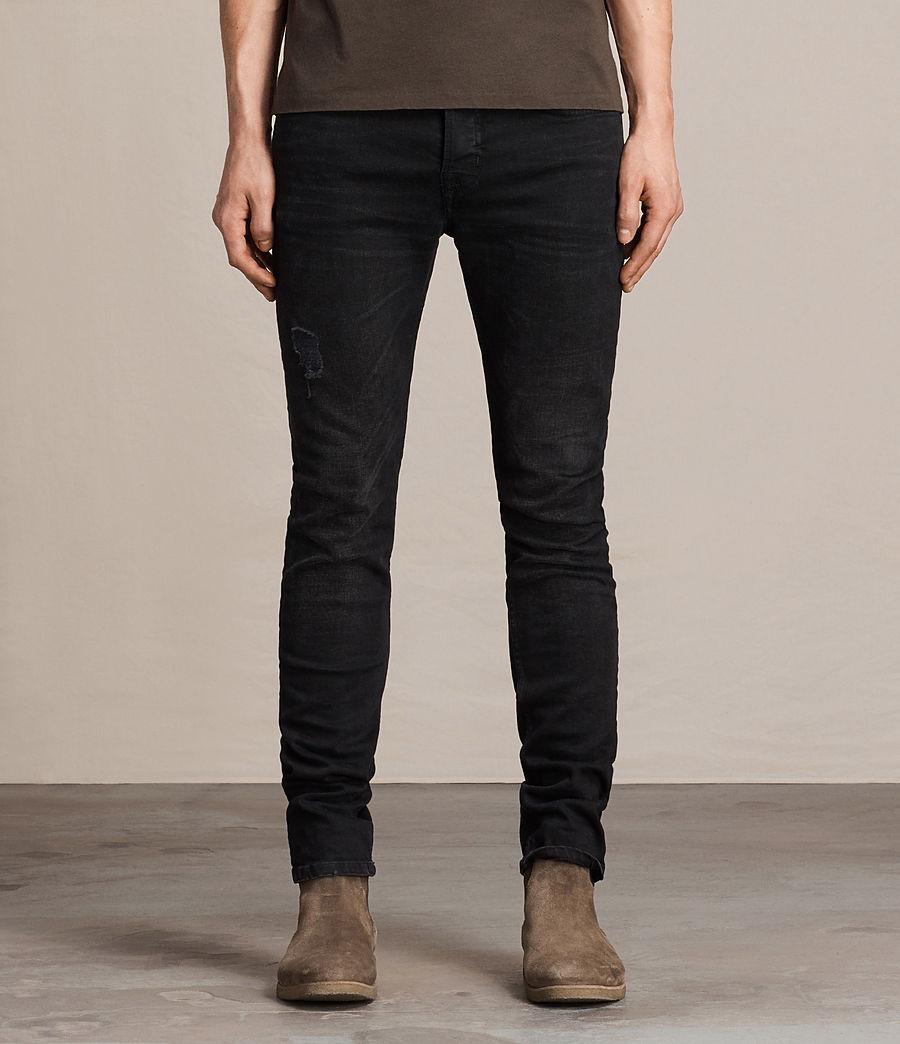 ALLSAINTS UK: Mens Print Cigarette Jeans (Black)