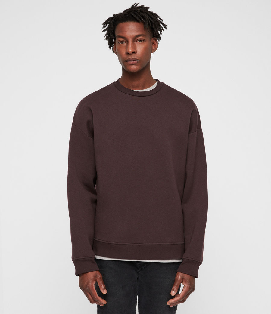 Mens Hibard Crew Sweatshirt (oxblood_red) - Image 1