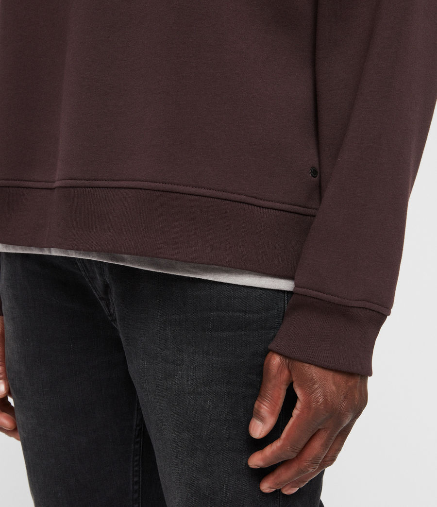 Mens Hibard Crew Sweatshirt (oxblood_red) - Image 2