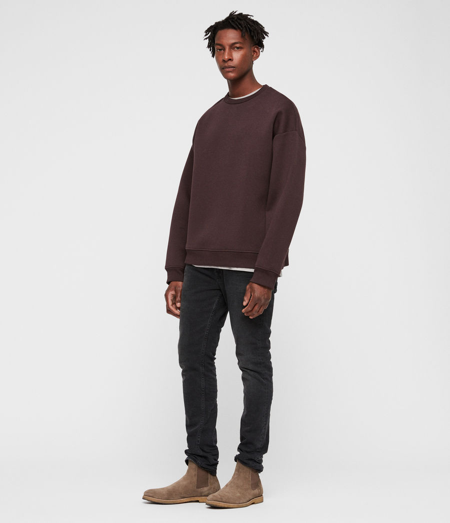 Mens Hibard Crew Sweatshirt (oxblood_red) - Image 3