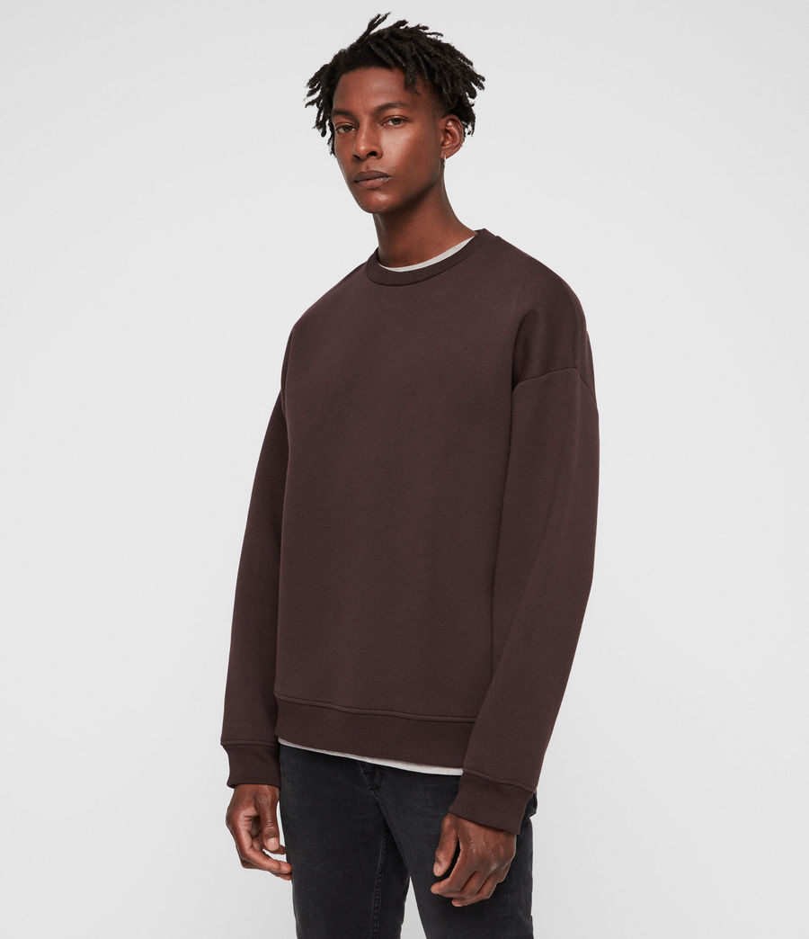 Mens Hibard Crew Sweatshirt (oxblood_red) - Image 4