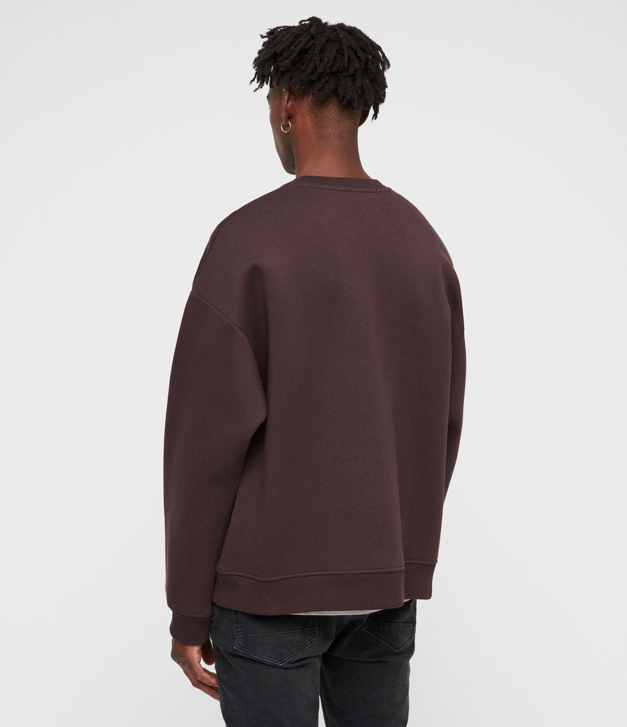 Mens Hibard Crew Sweatshirt (oxblood_red) - Image 5