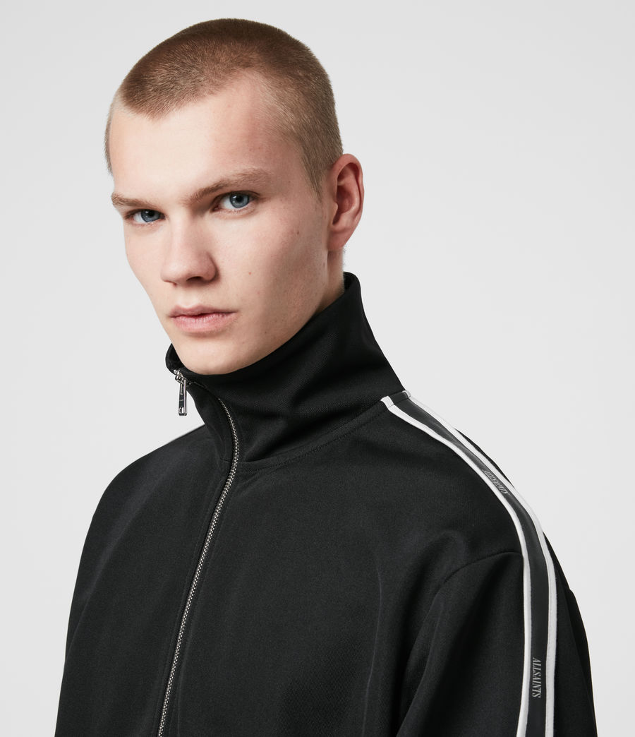 Hommes Josh Zip Funnel Neck Sweatshirt (jet_black) - Image 5