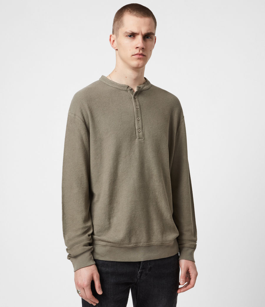Men's Wrenley Organic Cotton Henley (willow_taupe) - Image 1