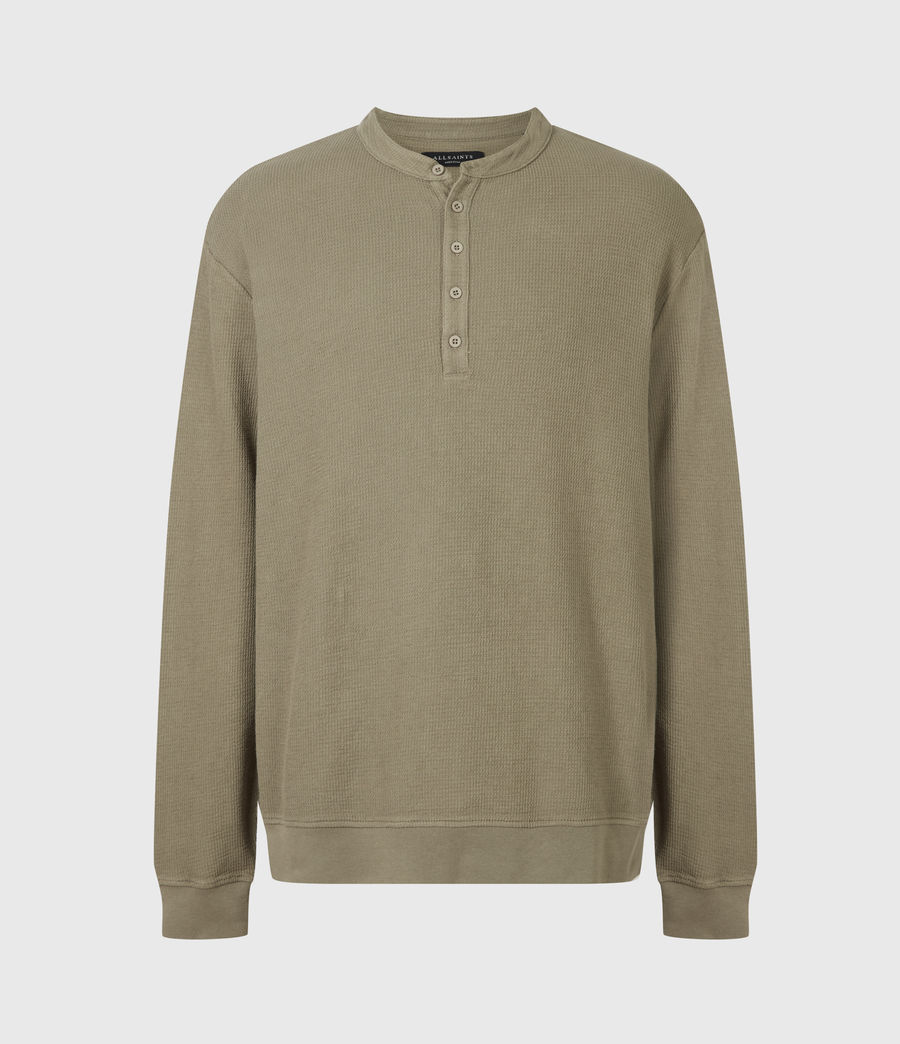 Men's Wrenley Organic Cotton Henley (willow_taupe) - Image 2