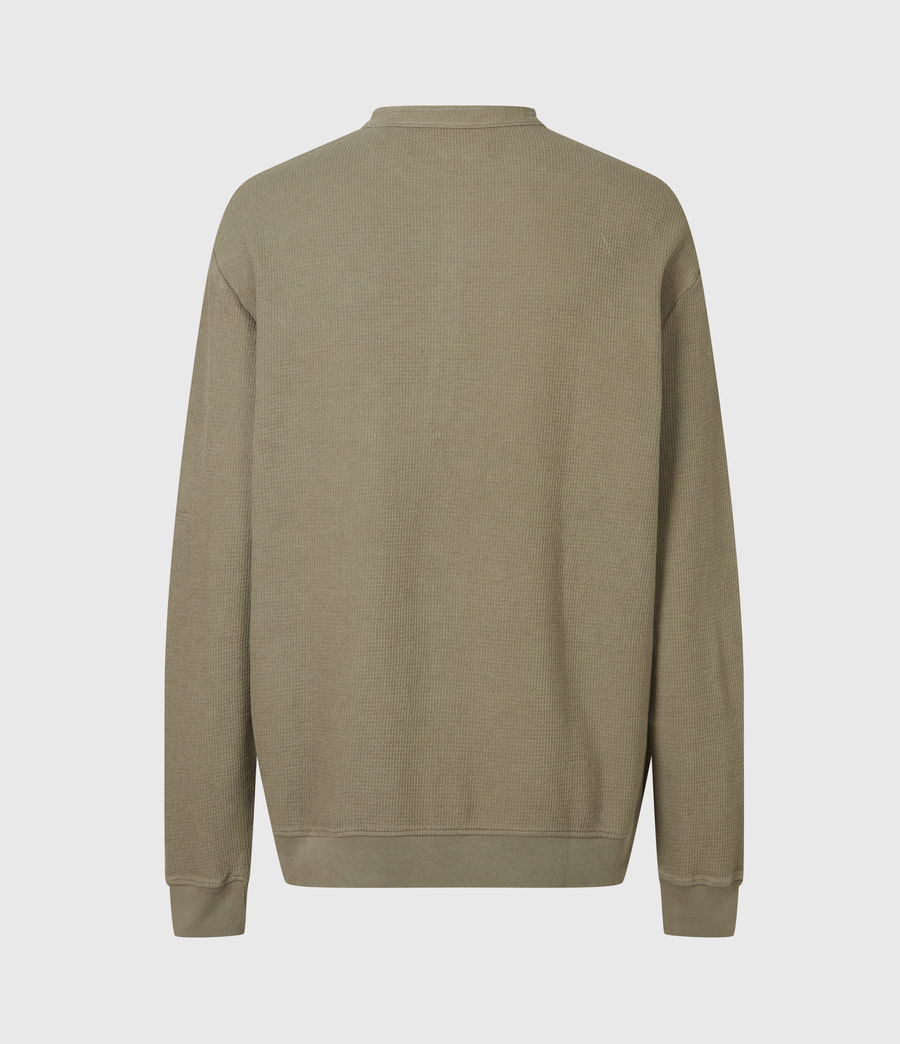 Men's Wrenley Organic Cotton Henley (willow_taupe) - Image 3