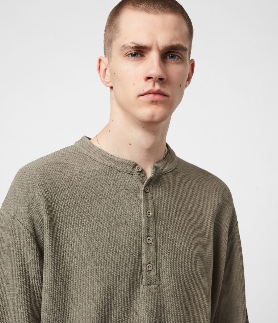 Men's Wrenley Organic Cotton Henley (willow_taupe) - Image 4