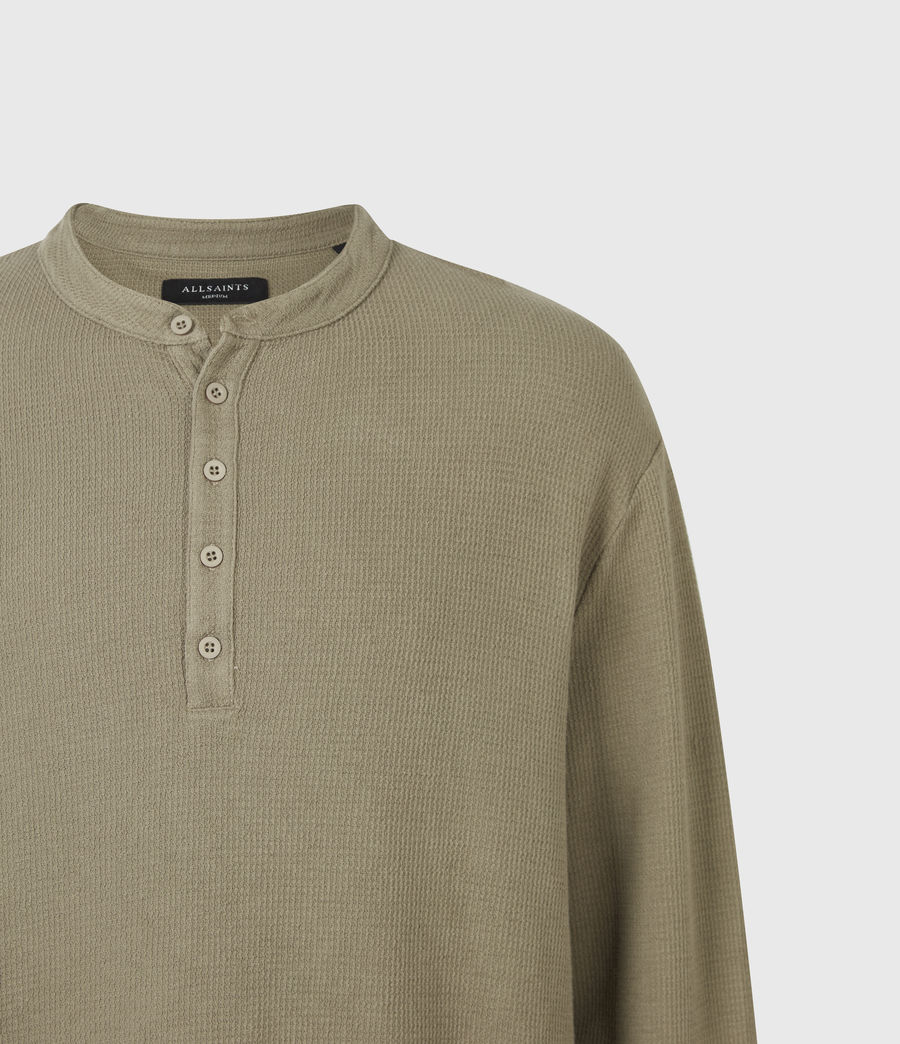 Men's Wrenley Organic Cotton Henley (willow_taupe) - Image 5