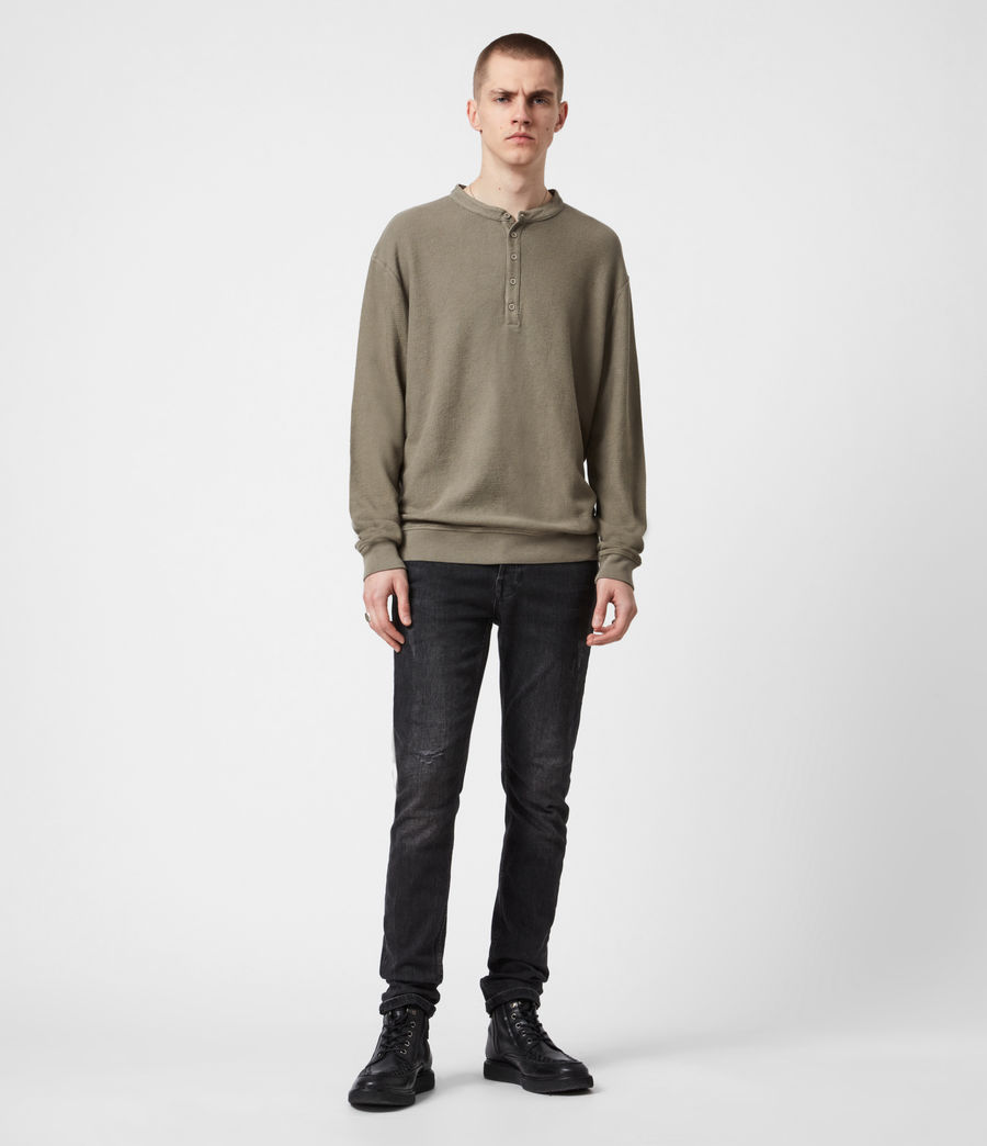 Men's Wrenley Organic Cotton Henley (willow_taupe) - Image 6