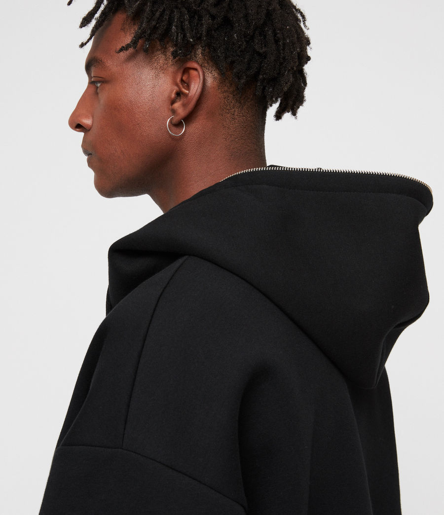 Men's Hibard Zip Hoodie (jet_black) - Image 4