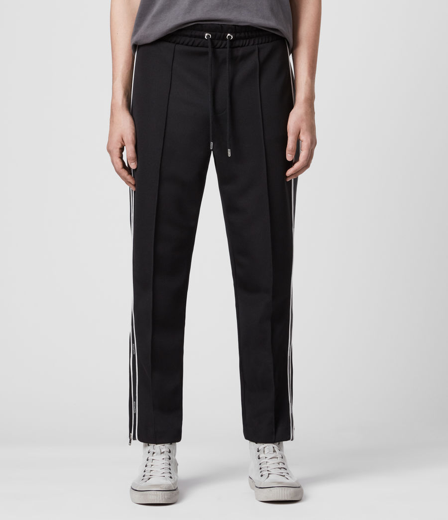 Men's Josh Cropped Slim Trackpants (jet_black) - Image 1