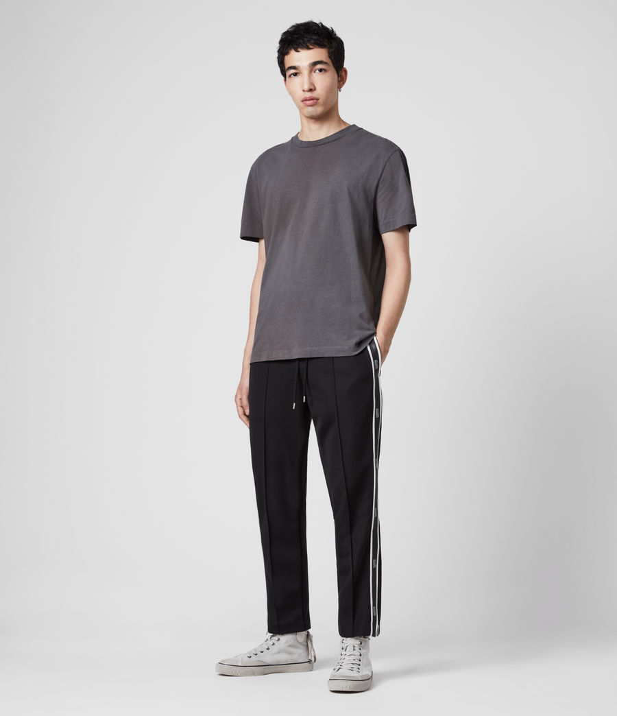 Men's Josh Cropped Slim Trackpants (jet_black) - Image 3