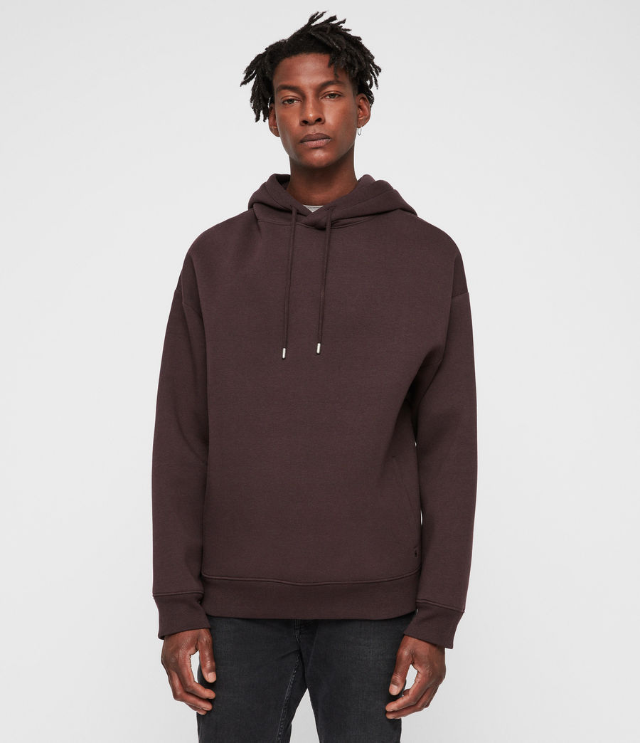 Men's Hibard Pullover Hoodie (oxblood_red) - Image 1