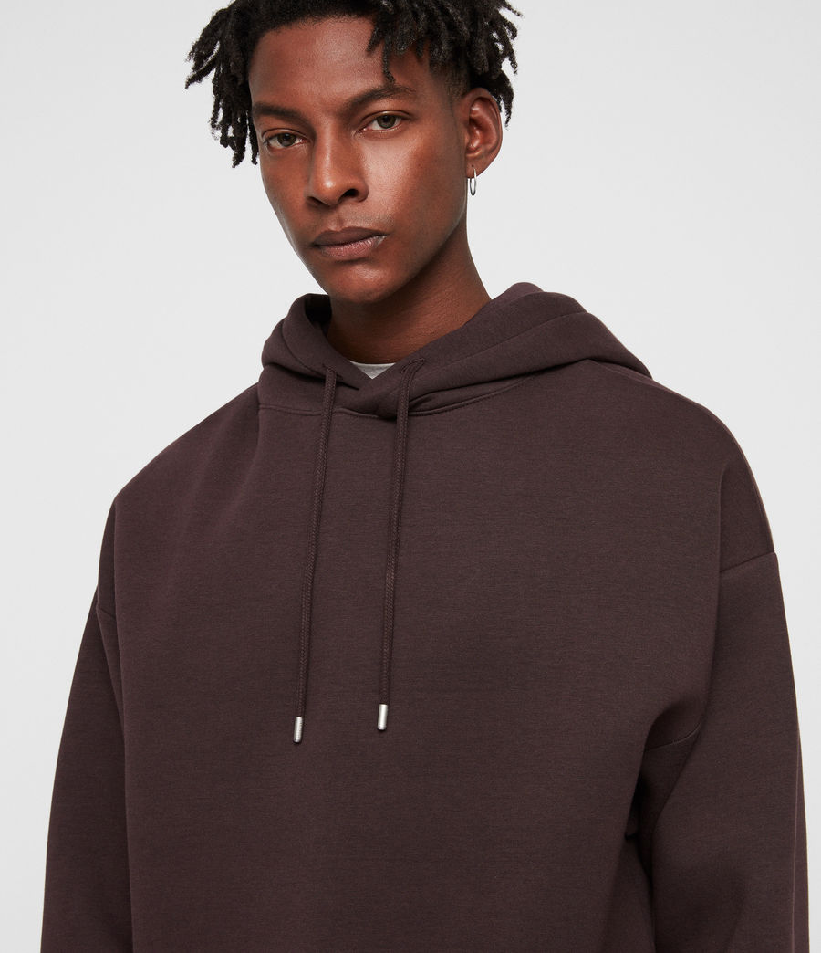 Men's Hibard Pullover Hoodie (oxblood_red) - Image 2